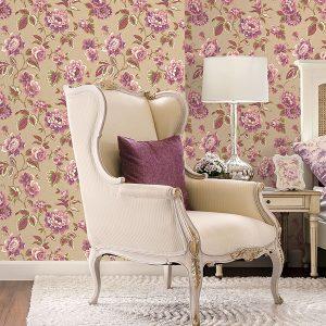 Tapet clasic floral-trandafiri Royal Deco Timisoara
